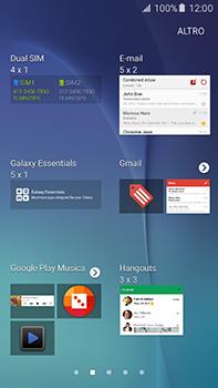 Samsung Galaxy A8 - Operazioni iniziali - Installazione di widget e applicazioni nella schermata iniziale - Fase 5