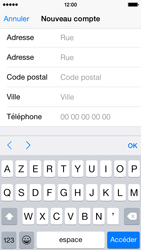Apple iPhone 5s - iOS 8 - Applications - Créer un compte - Étape 22