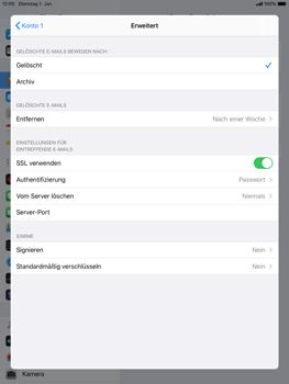 Apple iPad 9.7 (2018) - iPadOS 13 - E-Mail - Manuelle Konfiguration - Schritt 22