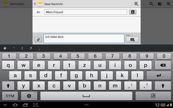 Samsung Galaxy Note 10-1 - MMS - Erstellen und senden - 12 / 21