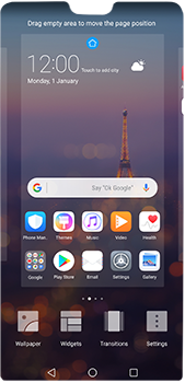 Huawei P20 Pro - Getting started - Installing widgets and applications on your start screen - Step 5