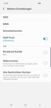 Samsung Galaxy S10 Plus - SMS - Manuelle Konfiguration - Schritt 8