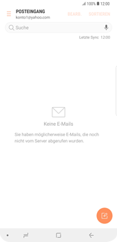 Samsung Galaxy S9 Plus - E-Mail - Konto einrichten (yahoo) - 10 / 12