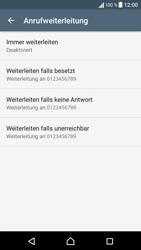 Sony Xperia XA - Anrufe - Rufumleitungen setzen und löschen - 6 / 9
