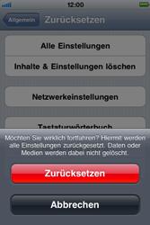 Apple iPhone 3G - Fehlerbehebung - Handy zurücksetzen - Schritt 9