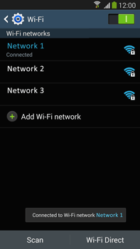 Samsung Galaxy Note III LTE - WiFi - WiFi configuration - Step 8