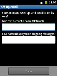 Samsung S5300 Galaxy Pocket - E-mail - Manual configuration - Step 15