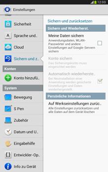Samsung Galaxy Note 8-0 - Fehlerbehebung - Handy zurücksetzen - 7 / 11