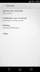 Sony Xperia Z3 Compact - voicemail - handmatig instellen - stap 6