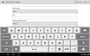 Samsung Galaxy Tab 2 10.1 - E-mail - Manual configuration - Step 8