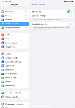 Apple iPad Pro 10.5 (1st gen) - iPadOS 13 - Réseau - Comment activer une connexion au réseau 4G - Étape 6