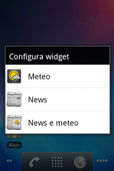 Alcatel OT-983 - Operazioni iniziali - Installazione di widget e applicazioni nella schermata iniziale - Fase 5