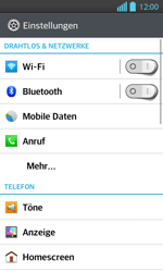 LG Optimus L7 II - Anrufe - Rufumleitungen setzen und löschen - 0 / 0