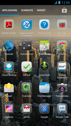 Alcatel One Touch Idol - Operazioni iniziali - installazione di widget e applicazioni nella schermata iniziale - Fase 3