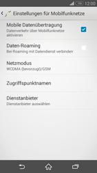 Sony Xperia Z3 - Netzwerk - Netzwerkeinstellungen ändern - 6 / 8