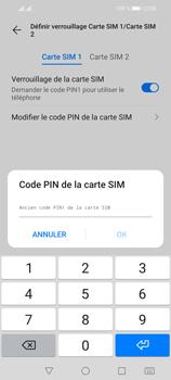 Huawei P Smart 2021 - Sécuriser votre mobile - Personnaliser le code PIN de votre carte SIM - Étape 9