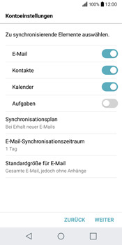 LG Q6 - E-Mail - Konto einrichten (outlook) - Schritt 10