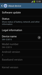 Samsung SM-G3815 Galaxy Express 2 - Software - Installing software updates - Step 7