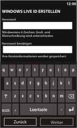 Nokia Lumia 610 - Apps - Konto anlegen und einrichten - Schritt 12