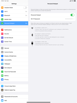 Apple iPad Pro 12.9 (2nd gen) - iPadOS 13 - WiFi - How to enable WiFi hotspot - Step 8