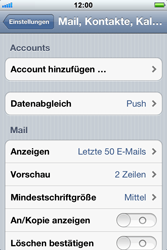 Apple iPhone 3GS - E-Mail - Konto einrichten - 2 / 2