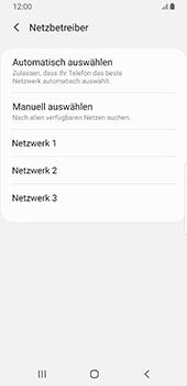 Samsung Galaxy S9 - Android Pie - Netzwerk - Manuelle Netzwerkwahl - Schritt 10