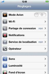 Apple iPhone 4 - Wifi - configuration manuelle - Étape 2