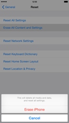 Apple iPhone 6 Plus iOS 8 - Mobile phone - Resetting to factory settings - Step 7