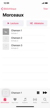 Apple iPhone 11 Pro - Photos, vidéos, musique - Ecouter de la musique - Étape 6