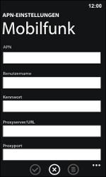 Nokia Lumia 800 / Lumia 900 - Internet und Datenroaming - Manuelle Konfiguration - Schritt 9