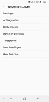 Samsung Galaxy A8 (2018) - sms - handmatig instellen - stap 6