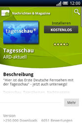 Sony Ericsson Xperia X8 - Apps - Herunterladen - 7 / 22