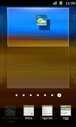 Samsung Galaxy S Advance - Operazioni iniziali - Installazione di widget e applicazioni nella schermata iniziale - Fase 5