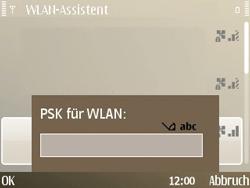 Nokia E72 - WLAN - Manuelle Konfiguration - Schritt 7