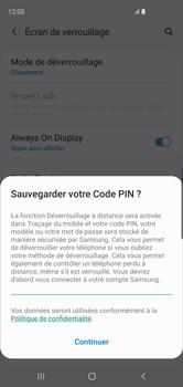 Samsung Galaxy S10 - Sécuriser votre mobile - Activer le code de verrouillage - Étape 12