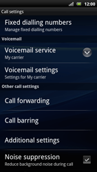 Sony Xperia Arc S - Voicemail - Manual configuration - Step 5