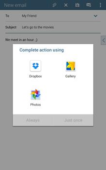 Samsung T335 Galaxy Tab 4 8-0 - E-mail - Sending emails - Step 12