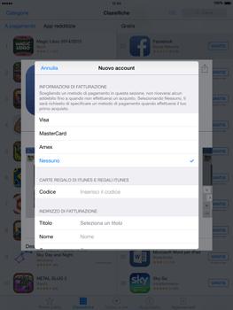 Apple iPad Air - iOS 8 - Applicazioni - Configurazione del negozio applicazioni - Fase 19