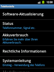 Samsung S5360 Galaxy Y - Software - Update - Schritt 5