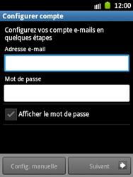 Samsung Galaxy Pocket - E-mail - Configuration manuelle - Étape 5