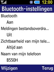 Samsung B550H Xcover 550 - bluetooth - aanzetten - stap 9