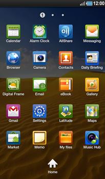 Samsung P1000 Galaxy Tab - MMS - Sending pictures - Step 2