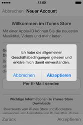 Apple iPhone 4 S mit iOS 7 - Apps - Konto anlegen und einrichten - Schritt 22