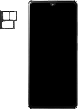 Samsung Galaxy A41 Dual-SIM (SM-A415F) - Instellingen aanpassen - SIM-Kaart plaatsen - Stap 3