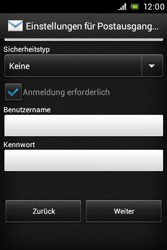 Sony Xperia Miro - E-Mail - Konto einrichten - Schritt 12