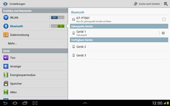Samsung Galaxy Tab 2 10.1 - Bluetooth - Verbinden von Geräten - Schritt 8
