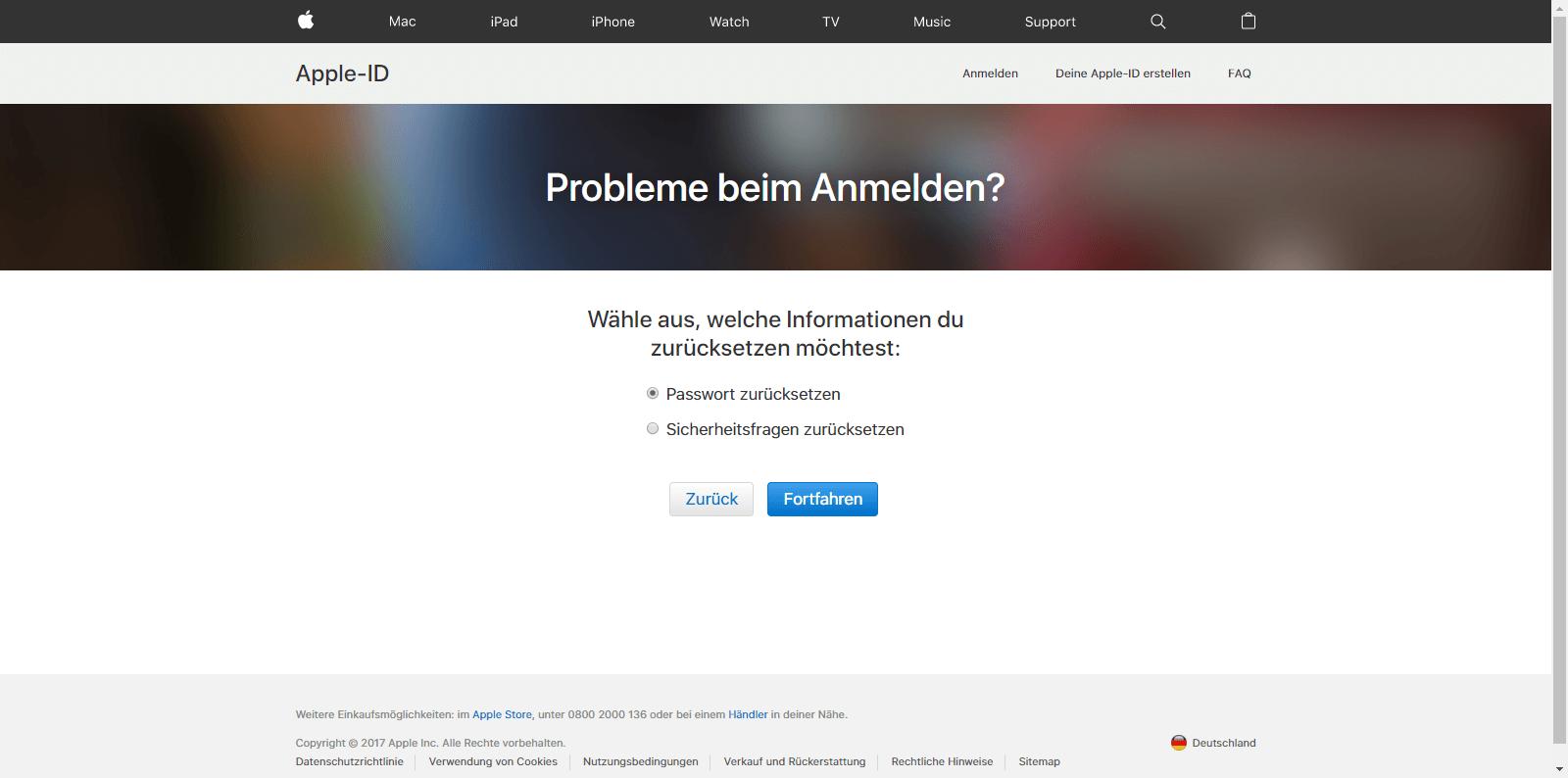 Apple iPhone 5 - Datenschutz und Sicherheit - Apple ID vergessen (Option 1) - 5 / 10