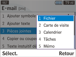 Samsung S3350 Chat 335 - E-mail - envoyer un e-mail - Étape 8