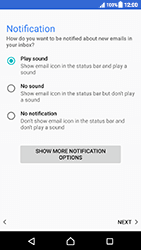 Sony Xperia XZ (F8331) - Android Nougat - E-mail - Manual configuration - Step 22