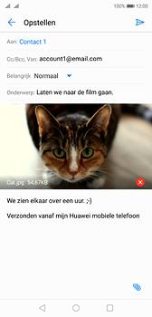 Huawei P20 - e-mail - hoe te versturen - stap 15